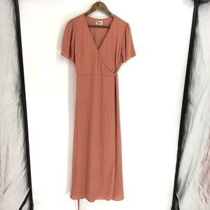 Show Me Your Mumu Dusty Rose Surplice Maxi Dress